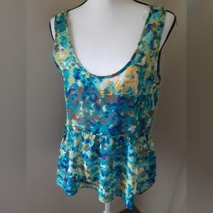 Ladies abstract tank blouse